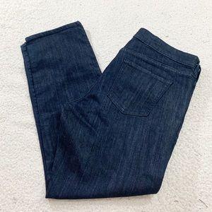 Gap real straight dark wash indigo jeans